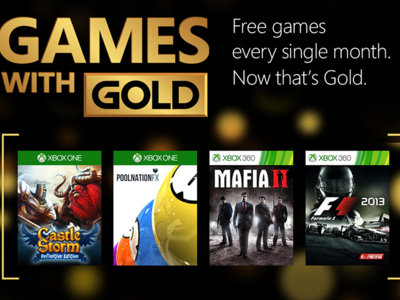 Los Games With Gold para mayo son: Mafia II, F1 2013 y CastleStorm: Definitive Edition