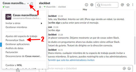 Personalizar Slack