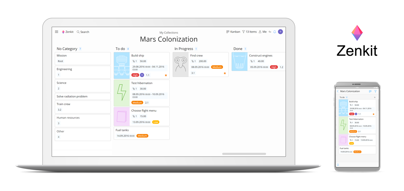 Zenkit, una app de productividad para gestionar proyectos usando Kanban que se planta como el mejor rival de...