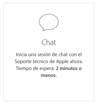 Soporte Apple Chat