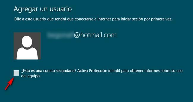 Activar protección infantil en Windows 8