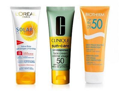 Cremas protectoras solares
