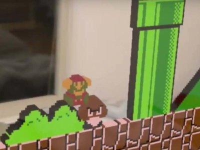 Así luce un juego de NES en los HoloLens de Microsoft