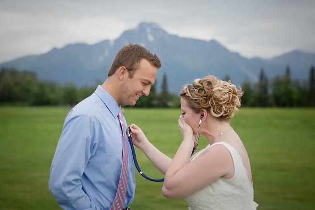 novia corazon hijo donante boda