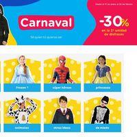 Carnaval 2020 en Toys 'r us: 30% de descuento en la segunda unidad en disfraces Star Wars, Frozen, Marvel o princesas Disney