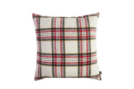 Muymucho Textil Cojin Cuadro Escoces Franela 45x45cm 12 99eur Blanco Y Rojo