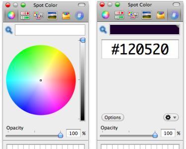 Spot Color, utiliza la herramienta de colores de Mac OS X como una aplicación independiente