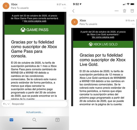 Aumento Precio Xbox Live Gold Game Pass Mexico Impuesto Digital