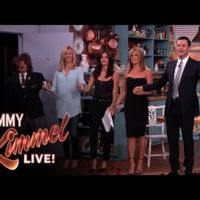 Rachel, Mónica y Phoebe juntas de nuevo en la cocina de Jimmy Kimmel