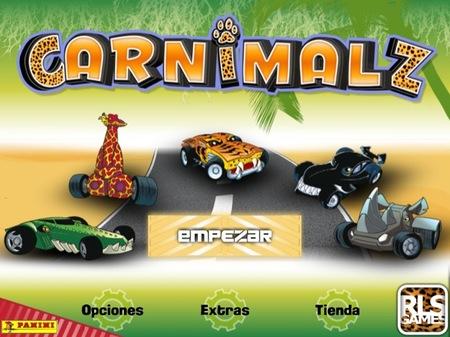 Carnimalz es un juego para que los niños jueguen a hacer carreras con el iPhone, iPad y iPod Touch