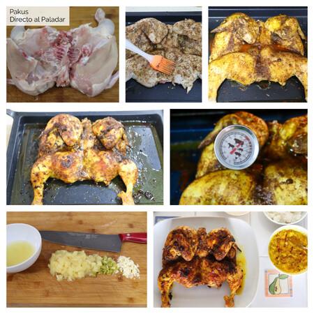 Pollo Asado Tailandes Curcuma Pasos Pakus