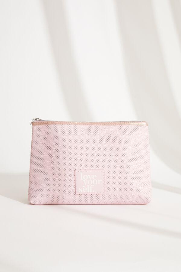 Neceser mediano tipo estuche en rosa