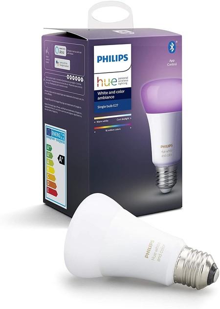 Philips Hue Bluetooth Bombilla Inteligente Led E27 Luz Blanca Y De Colores Posibilidad De Control Por Voz Clase De Eficiencia Energetica A
