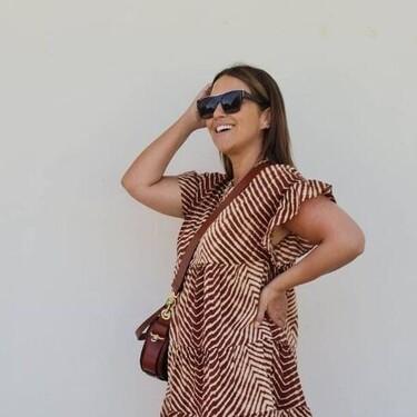 Paula Echevarría luce el vestido de Mango más fresquito para hacer frente a la ola de calor
