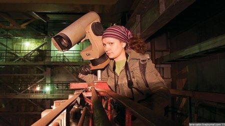 La bloguera que se coló en las instalaciones de una empresa del programa ruso de misiles