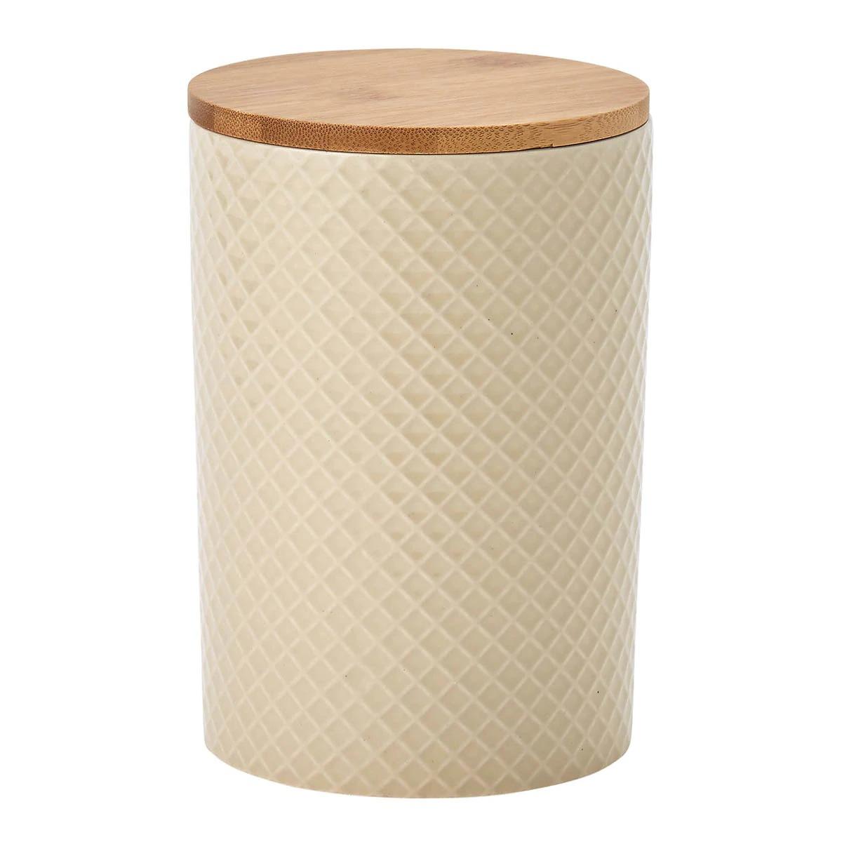 Tarro con tapa de bambú