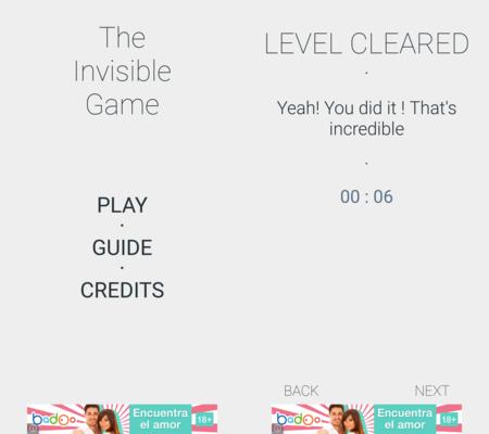 The Invisible Game: un juego de inteligencia que te hará usar todos los sensores de Android