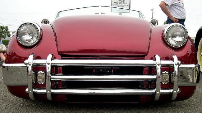 Frontal de coche clásico