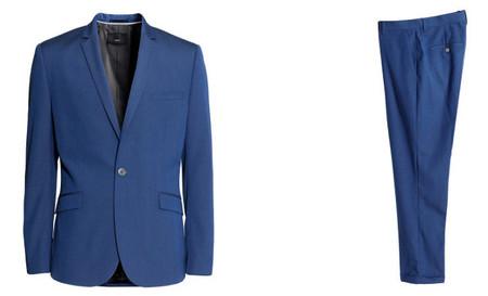H&M traje azul klein
