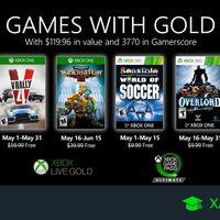 Juegos de Xbox Gold gratis para Xbox One y 360 de mayo 2020