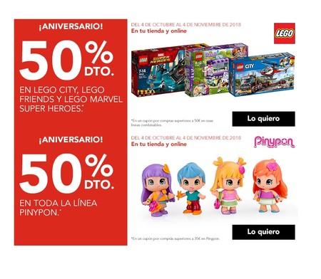 Aniversario Toys 'r us: 50% de descuento en Lego, Super Wings, Barbie, Patrulla Canina o  Pinypon entre otros
