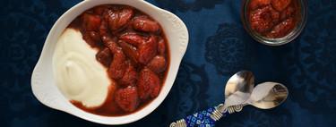 Fresas asadas al Oporto: una receta muy sencilla de sabor espectacular