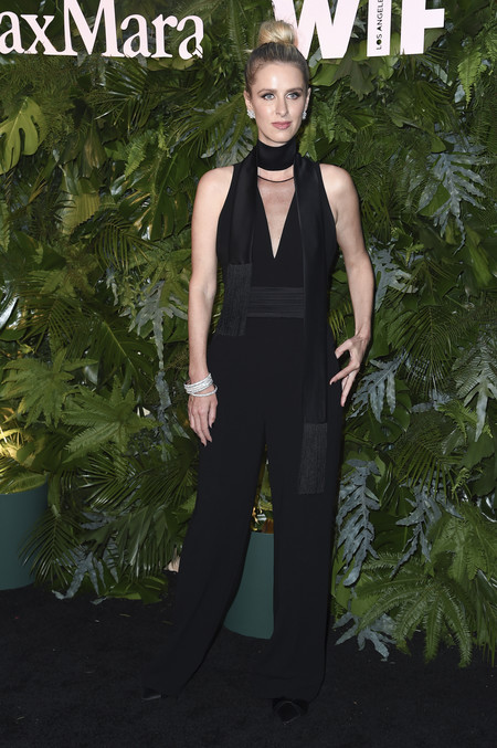 max mara vanity fair red carpet Nicky Hilton