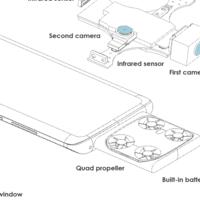 """vivo patenta un smartphone con """"cámara voladora"""": un """"dron"""" sale de su interior para volar y tomar fotos aéreas"""