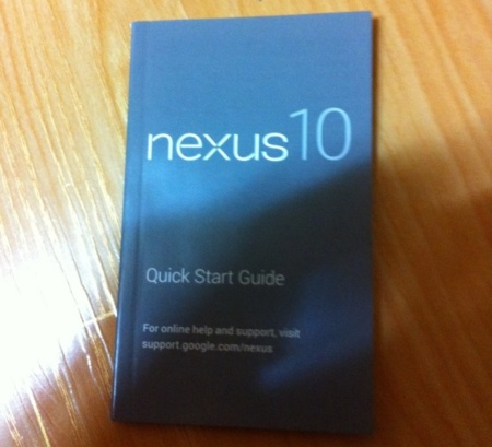 nexus 10 manual
