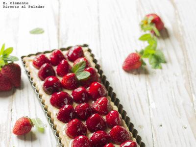 Tarta de fresas con crema de vainilla. Receta