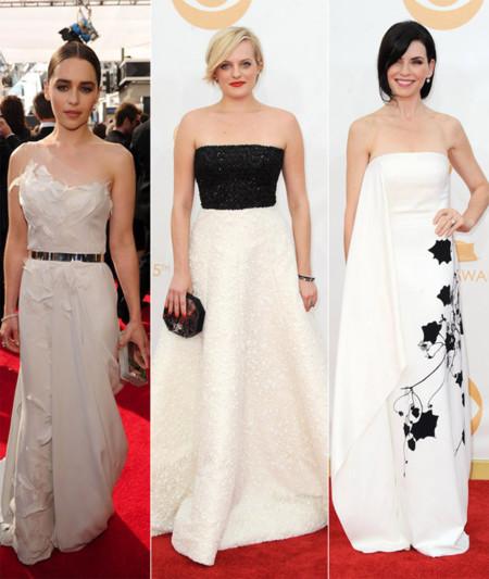 Emilia Clarke, Elizabeth Moss, Julianna Margulies emmy 2013