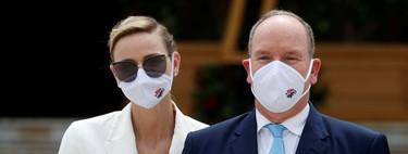 La familia real de Mónaco reaparece casi al completo entre mascarillas, en la inauguración de un casino en Montecarlo