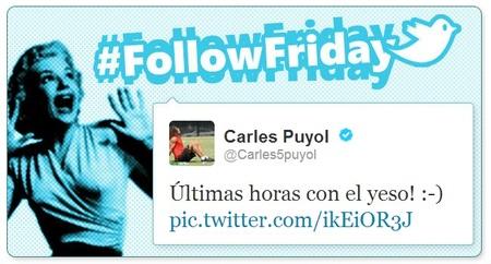 Follow Friday de Poprosa (XXVI): de la luxación de codo Puyol y demás chascarrillos tuitteros