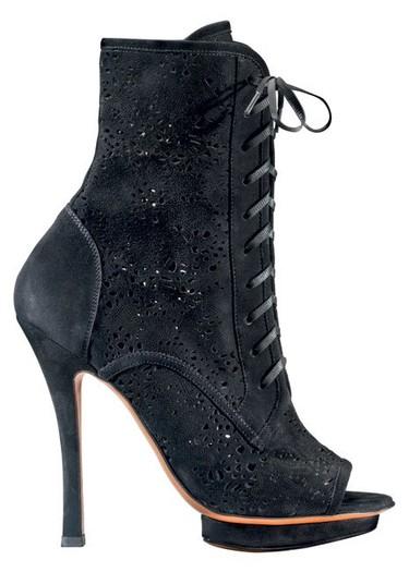 Botines peep-toe y con cordones, la tendencia estrella de este Otoño-Invierno 2010/2011