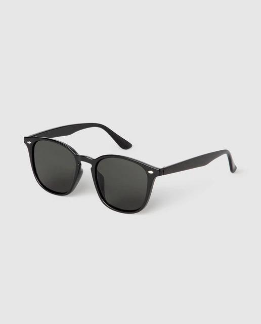 Gafas de sol de hombre Jo & Mr. Joe cuadradas en negro
