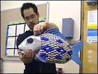 Peces robot en el acuario de Londres
