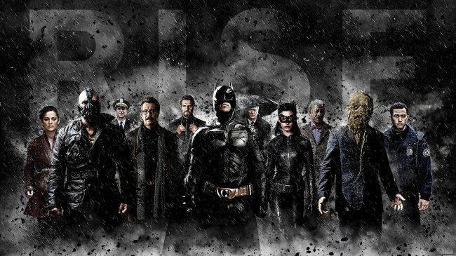 Imagen con el cartel promocional de 'El Caballero Oscuro: La Leyenda Renace'