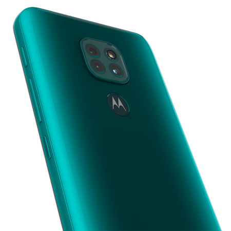 Moto G9 Play Forest Green Cam Detail