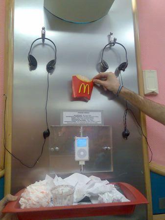 iPod en restaurante de comida rápida