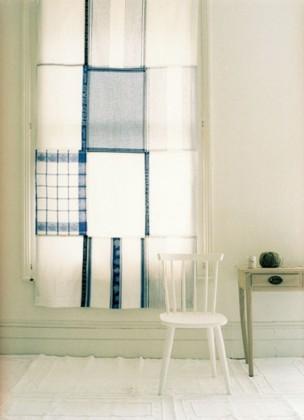 Una buena idea: haz una cortina con paños de cocina
