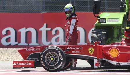 Una falla en la caja provocó el abandono de Felipe Massa