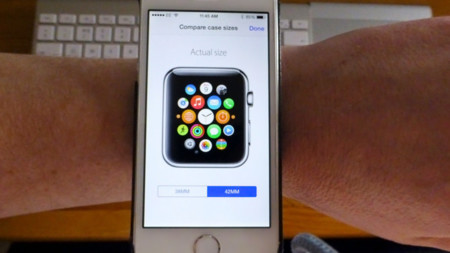 Pruébate el Apple Watch en tu muñeca con la app de la Apple Store