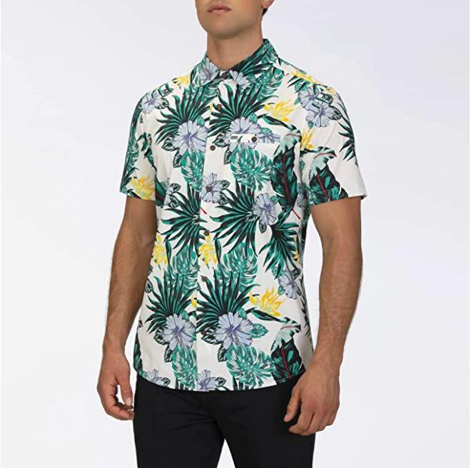Camisa Hurley con estampado tropical