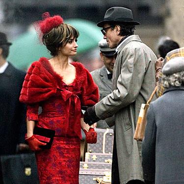 Primeras imágenes de Penélope Cruz en el rodaje de su nueva película Nine