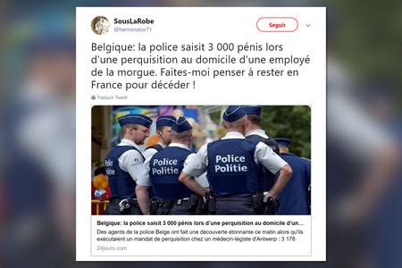 Lamentablemente, la policía belga no ha encontrado 3.000 penes en casa de un trabajador de la morgue