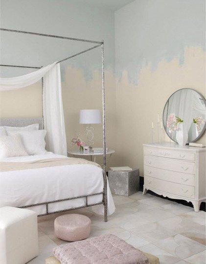 Pintura sin rematar en un dormitorio