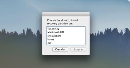 Recovery Partition Creator te ayuda a recuperar la partición de recuperación de OS X Mavericks