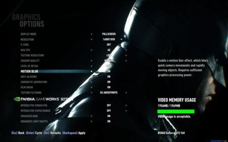 Batman Arkham Knight Graphics Options