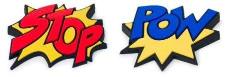 Sujeta Puertas 'Stop' y 'Pow', estilo Batman