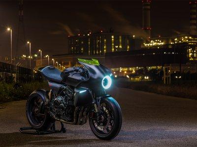 Honda CB4 'Interceptor', el prototipo café racer con una turbina que genera electricidad